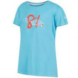 Polo marškinėliai melsvos spalvos mergaitei 158cm
