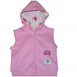 Pink vest for baby girls 62...