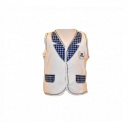 White insulated vest