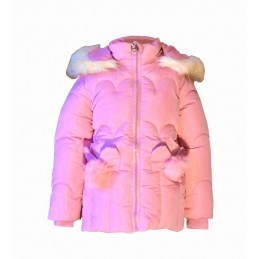 Warm winter jacket in pink...