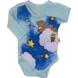 Blue baby bodysuit with...